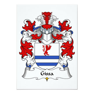 """Escudo de la familia de Gissa Invitación 5"""" X 7"""""""