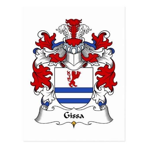 Escudo de la familia de Gissa Postal