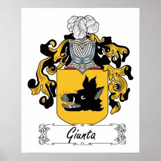 Escudo de la familia de Giunta Póster