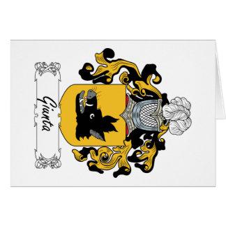 Escudo de la familia de Giunta Tarjeta De Felicitación