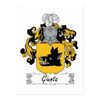 Escudo de la familia de Giunta Tarjeta Postal