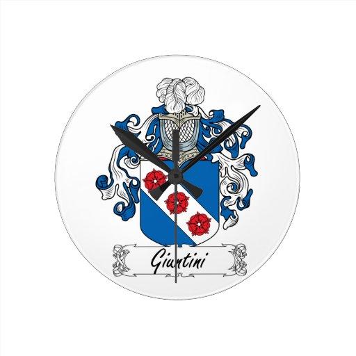 Escudo de la familia de Giuntini Reloj