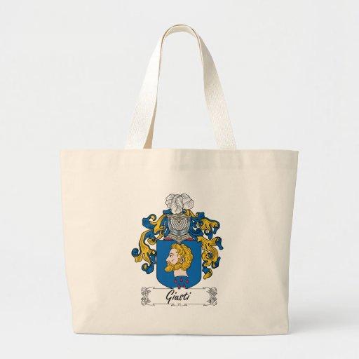 Escudo de la familia de Giusti Bolsas Lienzo