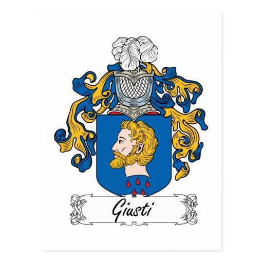 Escudo de la familia de Giusti Tarjetas Postales