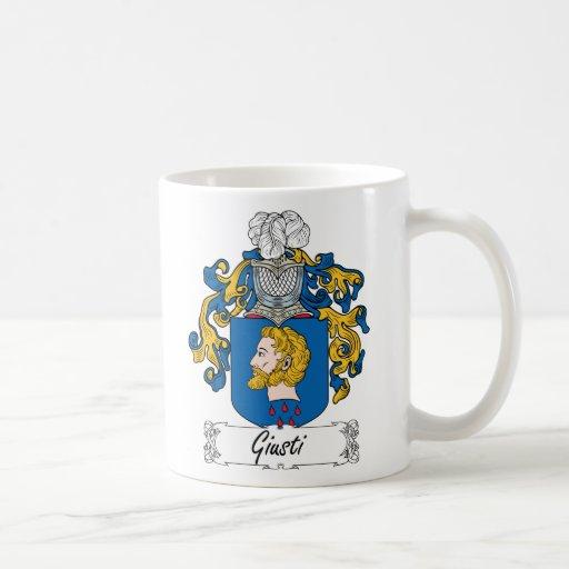 Escudo de la familia de Giusti Taza Básica Blanca