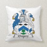 Escudo de la familia de Glasgow Almohadas