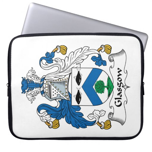 Escudo de la familia de Glasgow Mangas Computadora