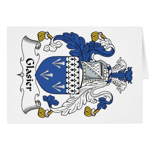 Escudo de la familia de Glasier Tarjetas