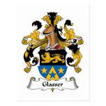 Escudo de la familia de Glasser Tarjetas Postales