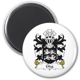 Escudo de la familia de Gleg Imán Redondo 5 Cm