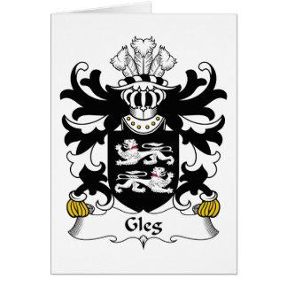 Escudo de la familia de Gleg Tarjeta De Felicitación
