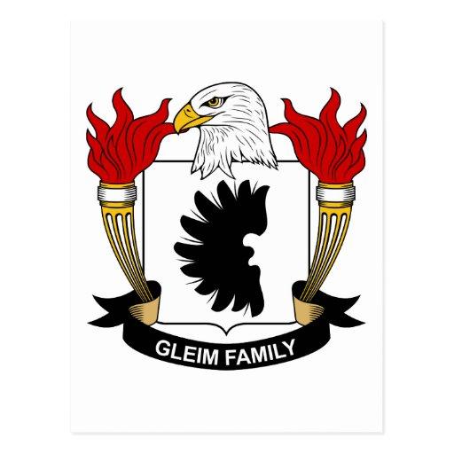 Escudo de la familia de Gleim Postales