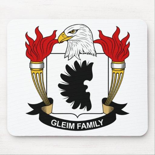 Escudo de la familia de Gleim Tapetes De Ratones