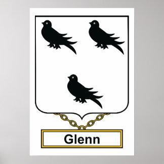 Escudo de la familia de Glenn Póster