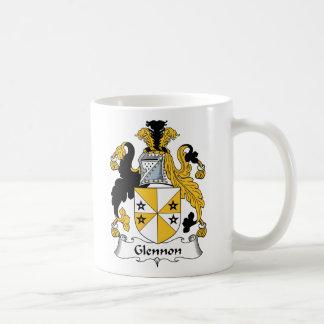 Escudo de la familia de Glennon Taza De Café