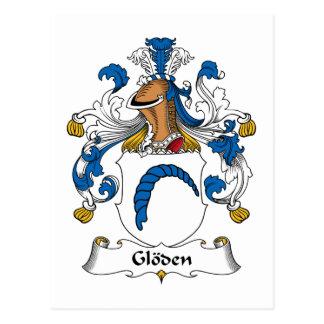 Escudo de la familia de Gloden Tarjeta Postal