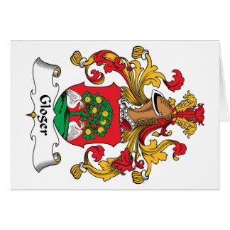 Escudo de la familia de Gloger Tarjetas
