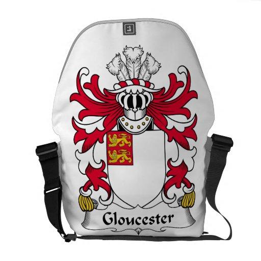 Escudo de la familia de Gloucester Bolsa De Mensajería