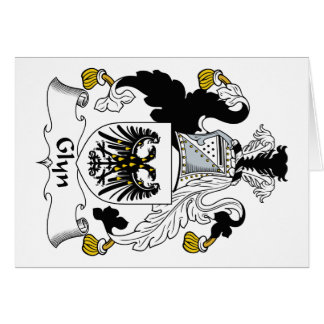 Escudo de la familia de Glyn Tarjeta De Felicitación