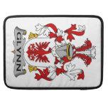 Escudo de la familia de Glynn Fundas Para Macbooks