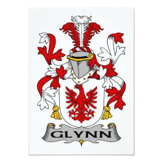 Escudo de la familia de Glynn Invitación 12,7 X 17,8 Cm