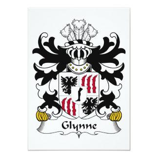 Escudo de la familia de Glynne Invitación 12,7 X 17,8 Cm