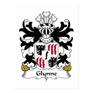 Escudo de la familia de Glynne Tarjetas Postales