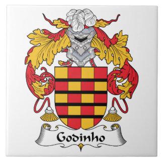 Escudo de la familia de Godinho Azulejo Cuadrado Grande