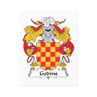Escudo de la familia de Godins Lona Estirada Galerías