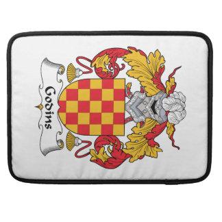 Escudo de la familia de Godins Fundas Para Macbook Pro