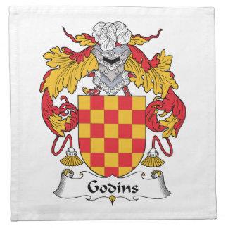 Escudo de la familia de Godins Servilletas Imprimidas