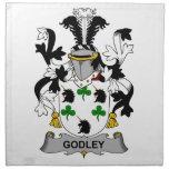 Escudo de la familia de Godley Servilletas De Papel