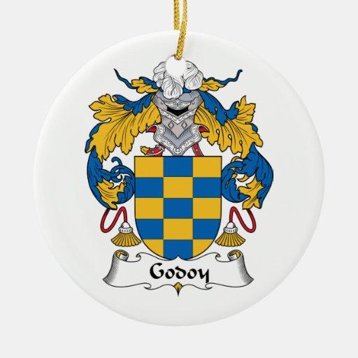 Escudo de la familia de Godoy Adorno Redondo De Cerámica
