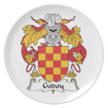 Escudo de la familia de Godoy Plato Para Fiesta
