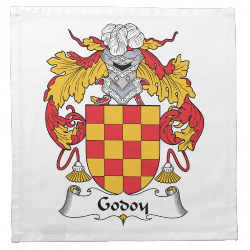 Escudo de la familia de Godoy Servilleta