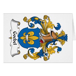Escudo de la familia de Goebel Tarjeta De Felicitación