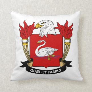 Escudo de la familia de Goelet Almohada