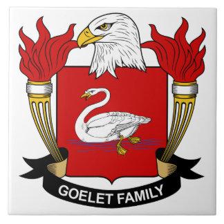 Escudo de la familia de Goelet Azulejo Cuadrado Grande