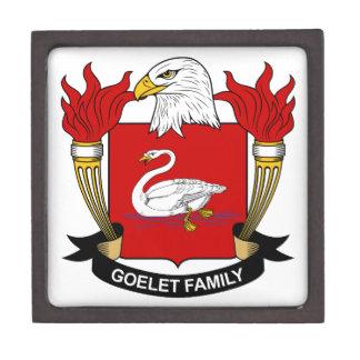 Escudo de la familia de Goelet Cajas De Recuerdo De Calidad