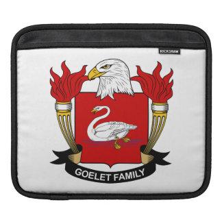 Escudo de la familia de Goelet Funda Para iPads