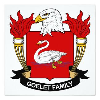 """Escudo de la familia de Goelet Invitación 5.25"""" X 5.25"""""""
