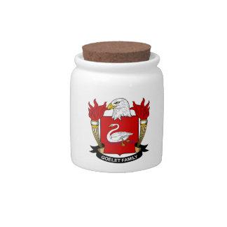 Escudo de la familia de Goelet Jarra Para Caramelo