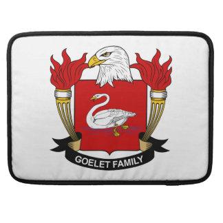 Escudo de la familia de Goelet Funda Para Macbook Pro