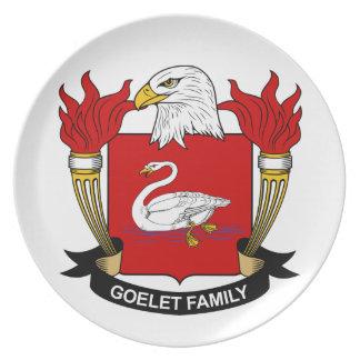 Escudo de la familia de Goelet Platos Para Fiestas