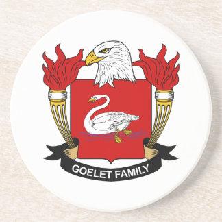 Escudo de la familia de Goelet Posavasos Cerveza