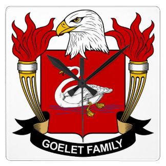 Escudo de la familia de Goelet Reloj Cuadrado