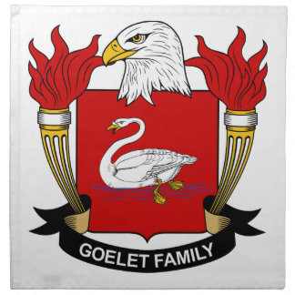 Escudo de la familia de Goelet Servilletas De Papel