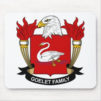 Escudo de la familia de Goelet Tapete De Ratones