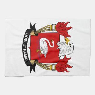 Escudo de la familia de Goelet Toalla