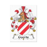 Escudo de la familia de Goerts Impresiones En Lienzo Estiradas
